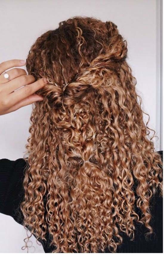 Curly hairstyle 2017