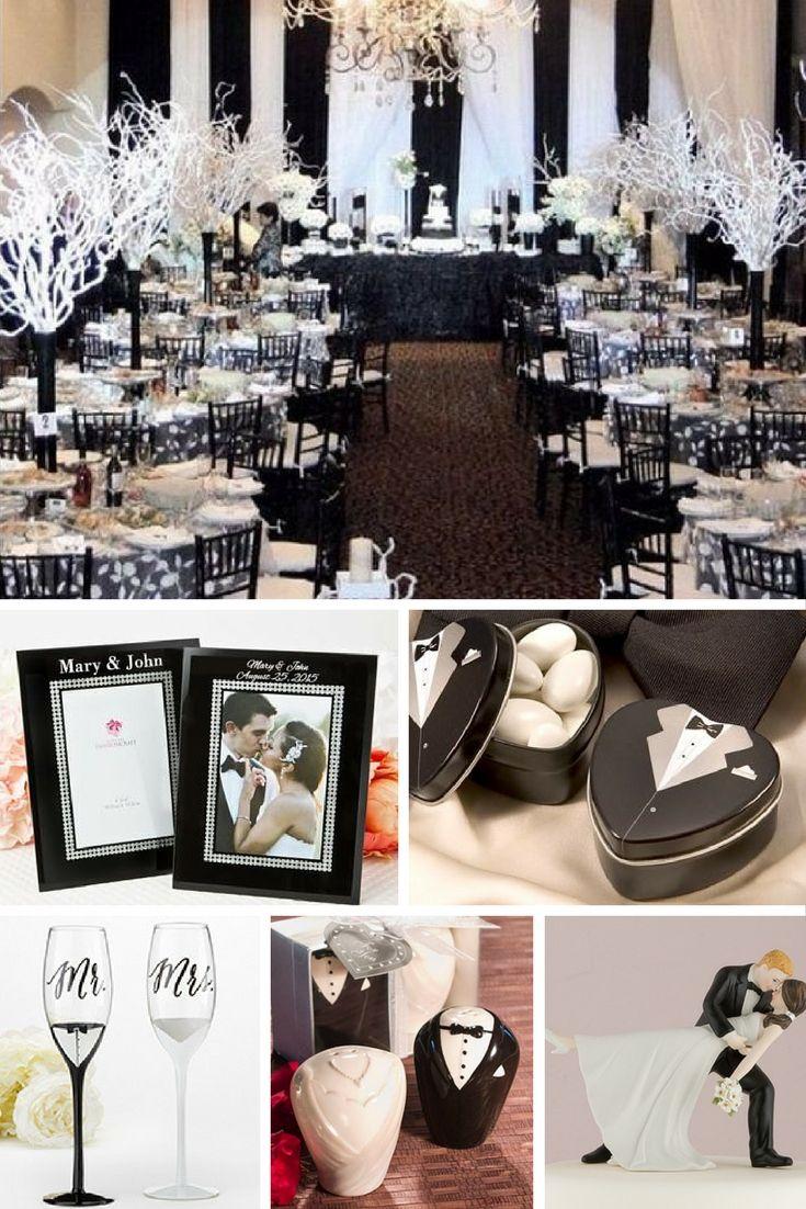 Black & white  wedding o Bodas . Elegantes !