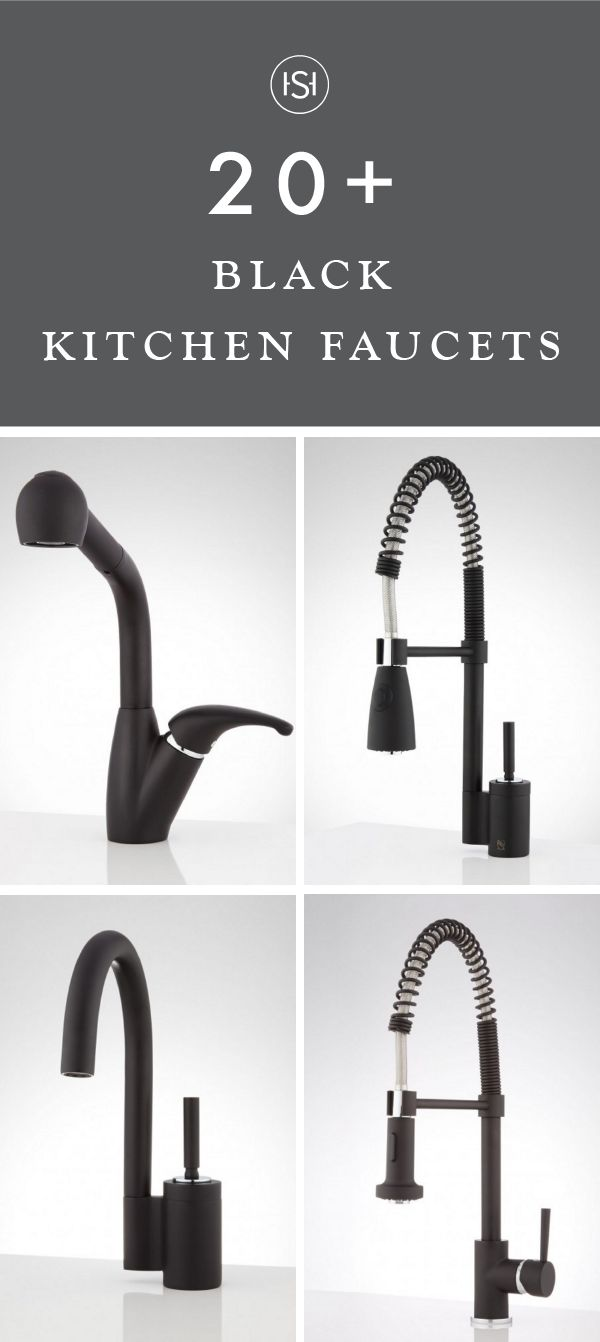 Out with the silver and in with matte black fixtures. This collection of 20+ Black Kitchen Faucets is an easy way to update the feel of your kitchen while adding to the practicality of your cooking area.
