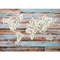 World Map Oil Painting Canvas Wall Art $349.95