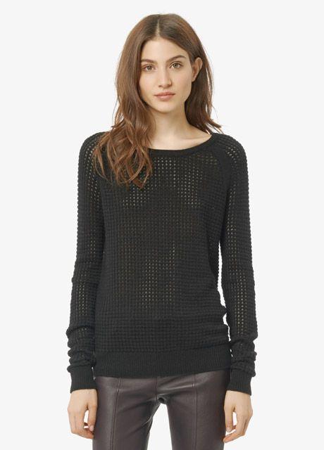 Raglan Cashmere Blend Thermal Sweater