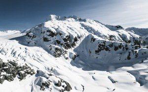 montañas previsualización de papel tapiz, la nieve, el vértice
