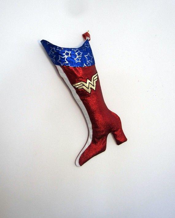 Wonder Woman Christmas Stockings