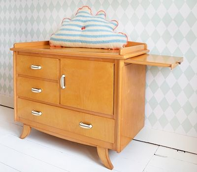 mid century changing table