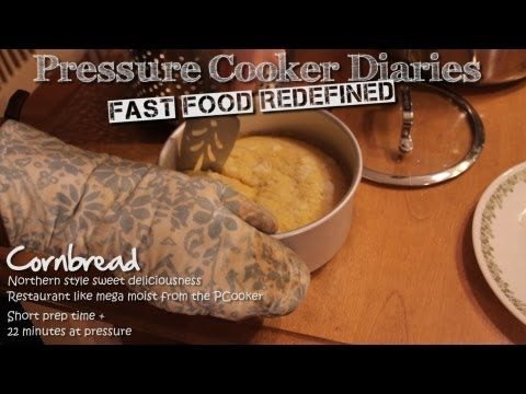 ▶ Sweet Cornbread Recipe - How to Make Cornbread Super Moist in a Pressure Cooker