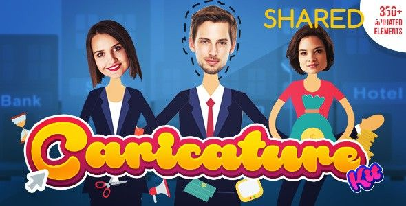 Videohive - Caricature Toolkit | Face Cut Out | Explainer video toolkit 19264969 - Free Download