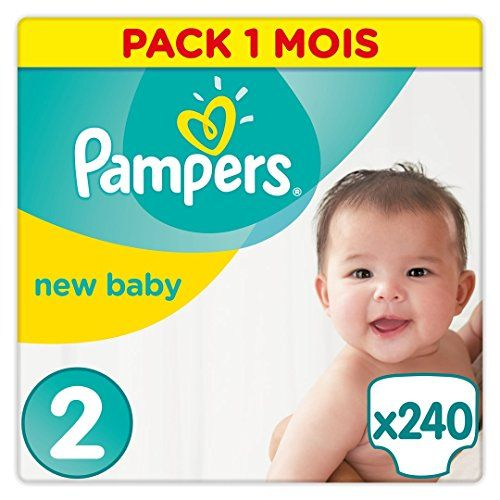 Pampers - New Baby - Couches Taille 2 (3-6 kg/Mini) - Pack Economique 1 Mois de Consommation (x240 couches) - http://www.darrenblogs.com/2017/02/pampers-new-baby-couches-taille-2-3-6-kgmini-pack-economique-1-mois-de-consommation-x240-couches/