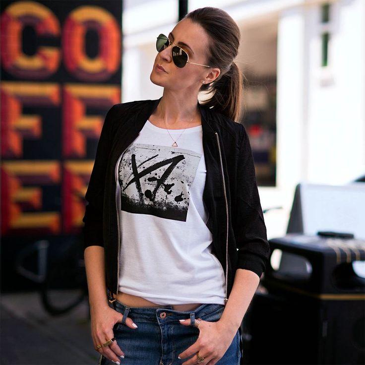 Urban Gilt - Buxton White Graffiti T-shirt| Women's Graphic Tees For Life's Adventurers | urbangilt.com | @urbangilt