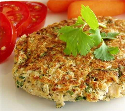 Super Healthy Salmon Patties... I usually skip the ricotta cheese