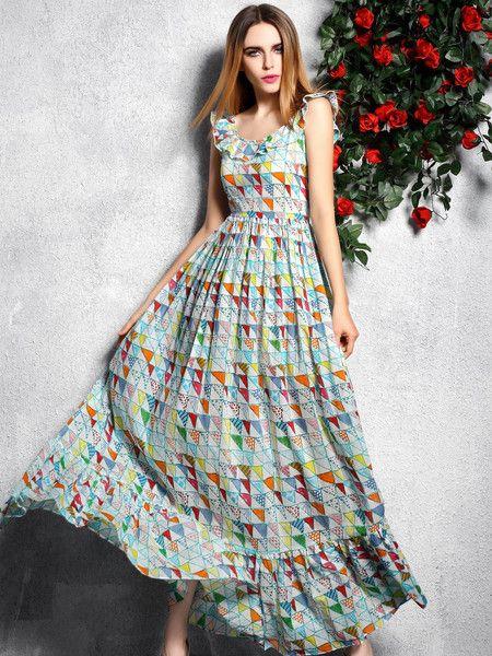 Floral-print Cotton Maxi Dress #summer #beach #fashion #trendy