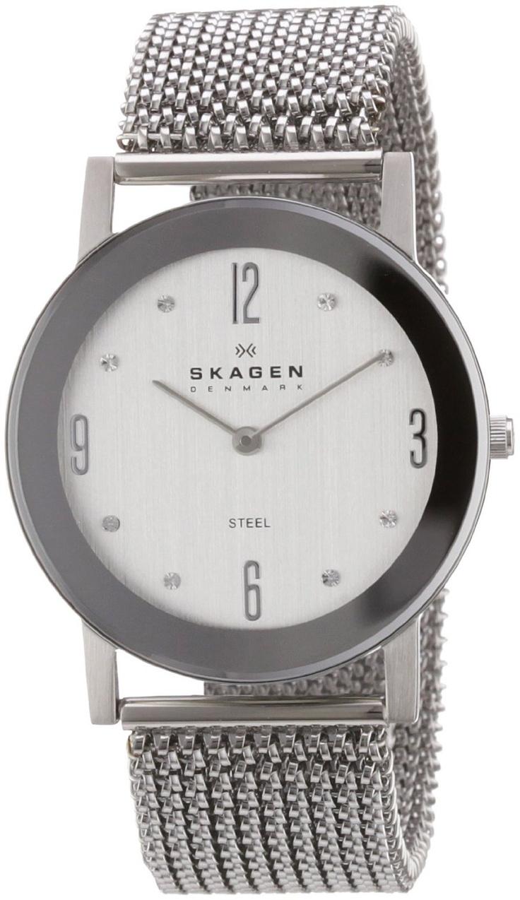 Skagen Women's 39LSSS1 Steel Stainless Steel Stretch Mesh Watch, (watches,  skagen watch,