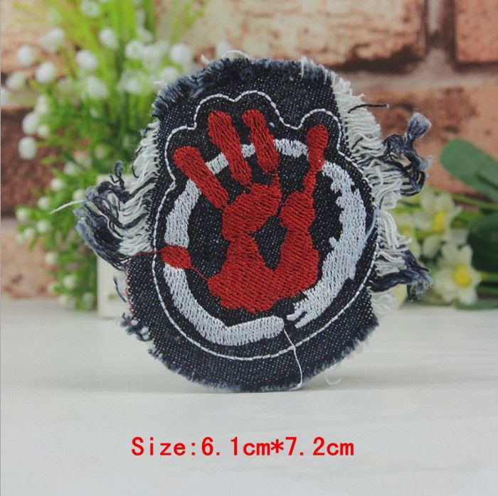 2PCS/Lot Cartoon Cowboy  Raw Edge Embroidered badges Punk Patchs  For Clothing accessories Backpack decoration  Sew-on Patchs