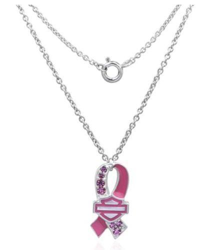 harley davidson u00ae womens pink pave bar shield round link
