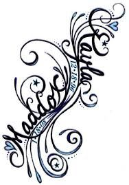 Image result for kids names on forearm tattoo vines