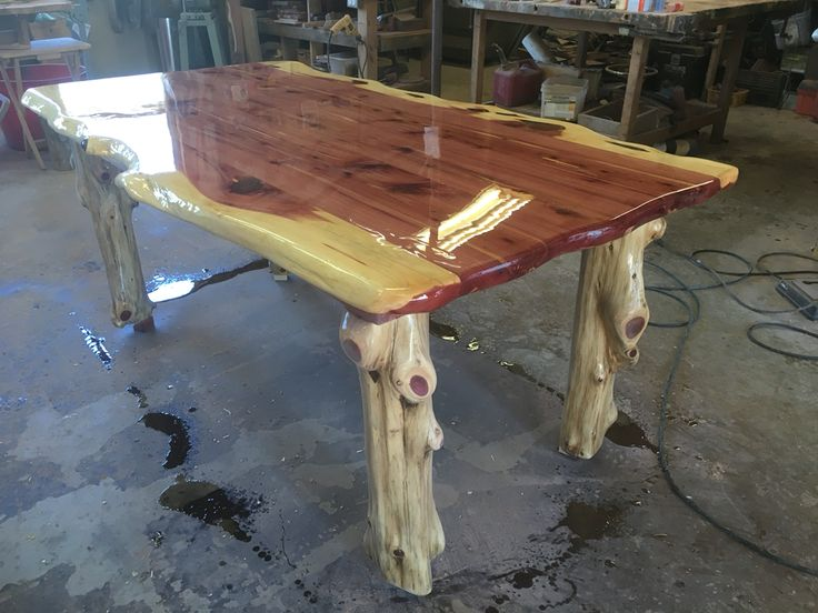 Cedar Kitchen Table With Log Legs Wood Table Legs Cedar