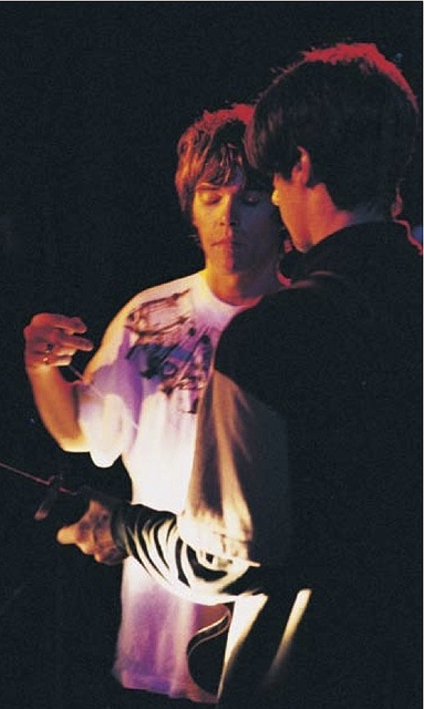 Ian Brown & John Squire. When it worked, it was other worldly....