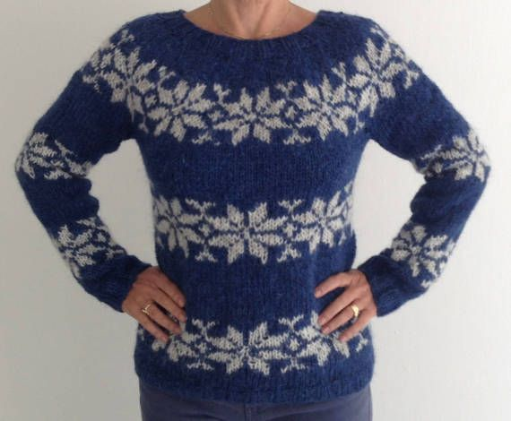 Sarah Lund sweater - hand knitted from Icelandic wool - for sale at www.frustrik and at etsy-com