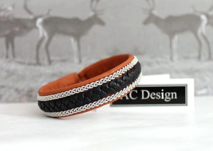 Men´s bracelet | Sami bracelet | leather bracelet AC Design www.acdesign.se #acdesign #leather #bracelet #gift #jewellery #jewelry #mensstyle