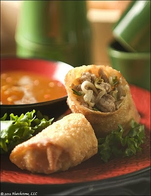 Five-Spiced Pork Egg Rolls with Spicy Duck Sauce