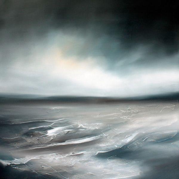 Paul Bennett - Seascape / Landscape 2011, Rise 1 - Oil on Canvas - 90cm X 90cm #OilPaintingOnCanvas