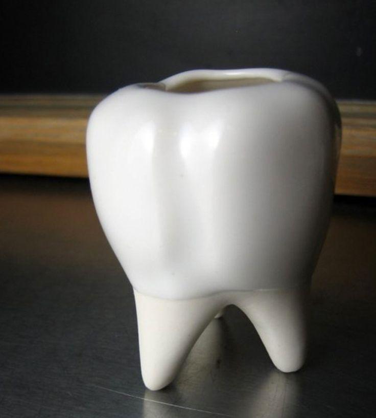 Ceramic Tooth Vessel   Home Bathroom   BROOKLYNrehab   Scoutmob Shoppe   Product Detail