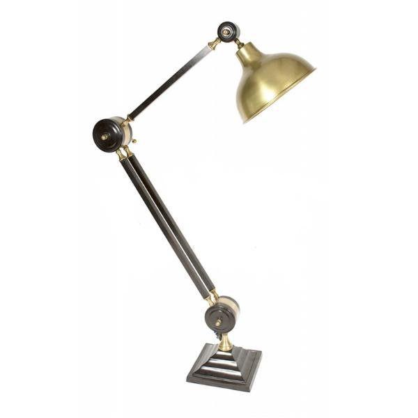 Orin Adjustable Floor Lamp Antique Brass – Luminous Lamps