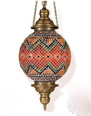 Large Byzantine Mosaic Lamp