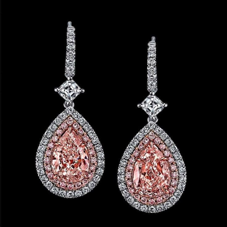 2.25cttw, PINK DIAMOND earrings! We just LOVE Pink Diamonds! #love #fashion #wow #idea #gifts #anniversary #diamonds #diamond #diamondring #diamondrings #anniversary #anniversarygift #jewelry #diamond jewelry #pinkdiamonds #bride #weddingday...