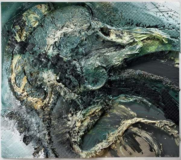 Znakiem rozpoznawczym Tadeusza Baranowskiego jest chaos uzyskiwany nie poprzez malowanie pędzlem na płótnie, ale poprzez nakładanie się materii i struktur. Dominują elementy organiczne, splątane siecią dziwnych struktur. Straszne, że aż piękne! I ten jedyny z swoim rodzaju sposób traktowania koloru. Bez cienia fałszu i wątpliwości. #Tadeusz Baranowski - PRZESTRZEŃ III