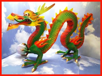 Chinese dragon paper craft library pinterest for Dragon crafts pinterest