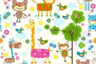 Kids wallpaper is filled with colours. www.wallpaper24.co.uk