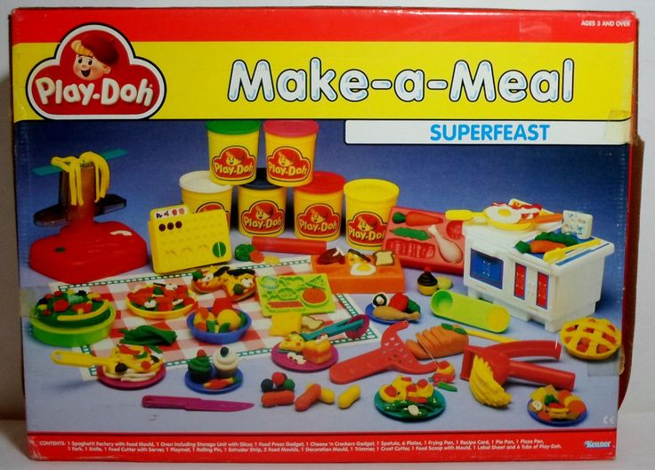 KENNER PLAY DOH VTG 80's THE ORIGINAL SUPERFEAST MAKE A MEAL SET NEW MIP RARE #Tonka