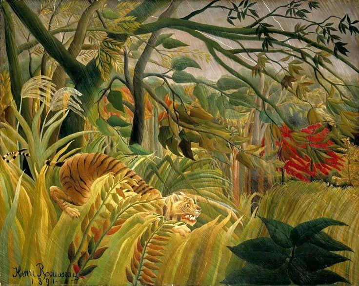 Анри Руссо.Нападение в джунглях