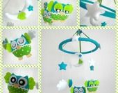 EXEMPLE VENDU: Mobile pour bébé personnalisé reservé à claire-chev : Jeux, peluches, doudous par l-atelier-de-luciole