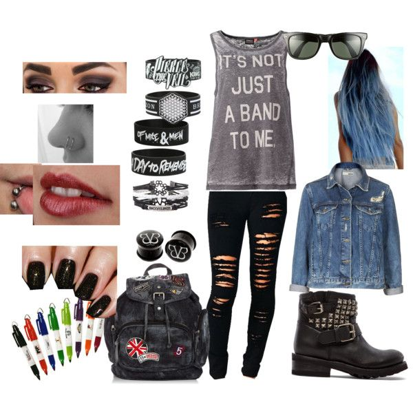 If I was a singer on warped tour this would be my outfit for pictures and signings.
