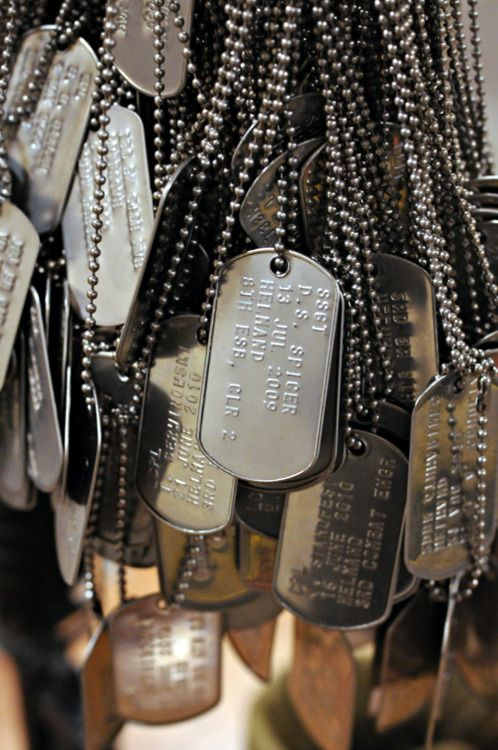 .      Dog tags signifying each Marine killed in action that has passed through School of Infantry East, are displayed on a memorial in the entrance of Ivy Hall    When I go there I will be sure to pay my respects…