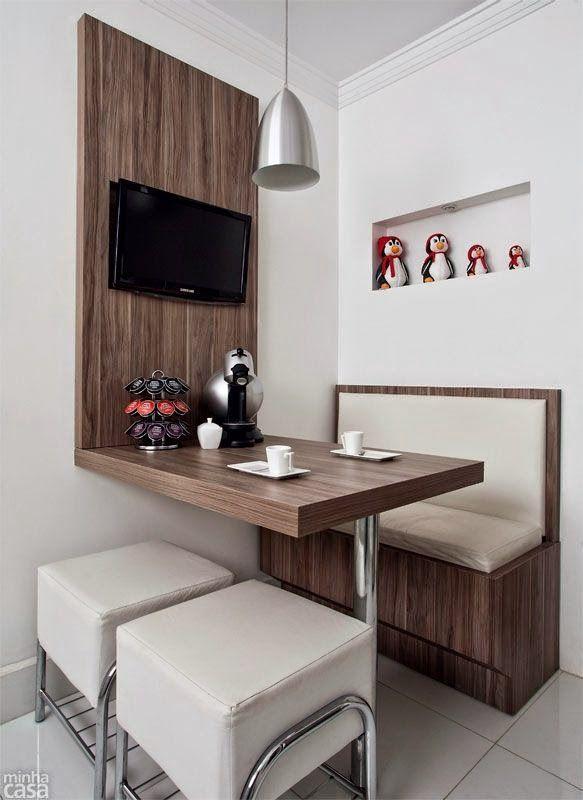 cozinha com sofá