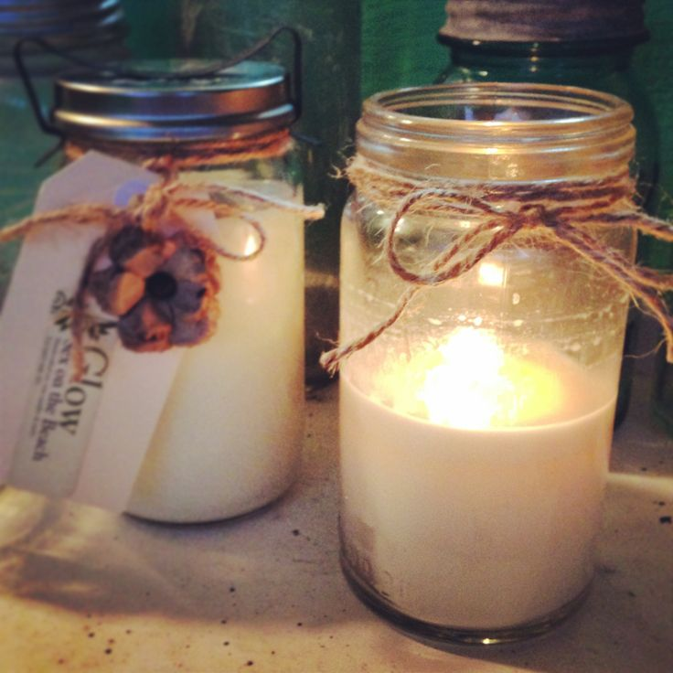 Luxury soy candles made in vintage Fowlers jars. www.glowcandles.net