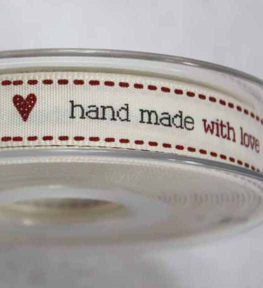Hand Made With Love - New Ribbon By Berisfords Article 13677 After being asked by a lot customers we are now pleased to be able to offer this new