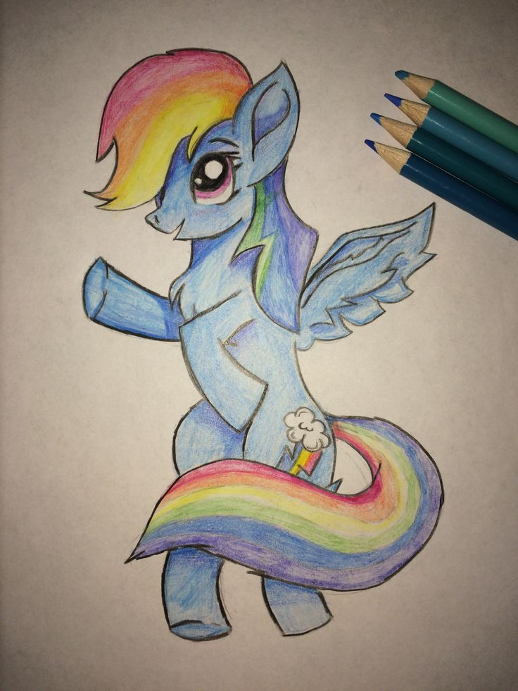 Colored Pencil Drawing Of Rainbow Dash Why Not Lol In 2019 Pencil Drawings Drawings Love