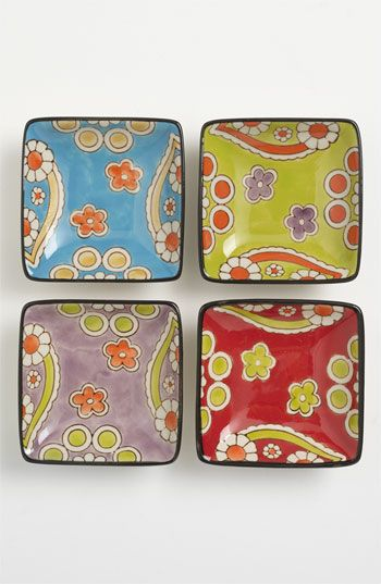 Vagabond Vintage 'Lotus' Plates (Set of 4)