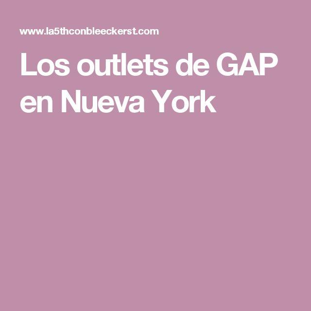 Los outlets de GAP en Nueva York