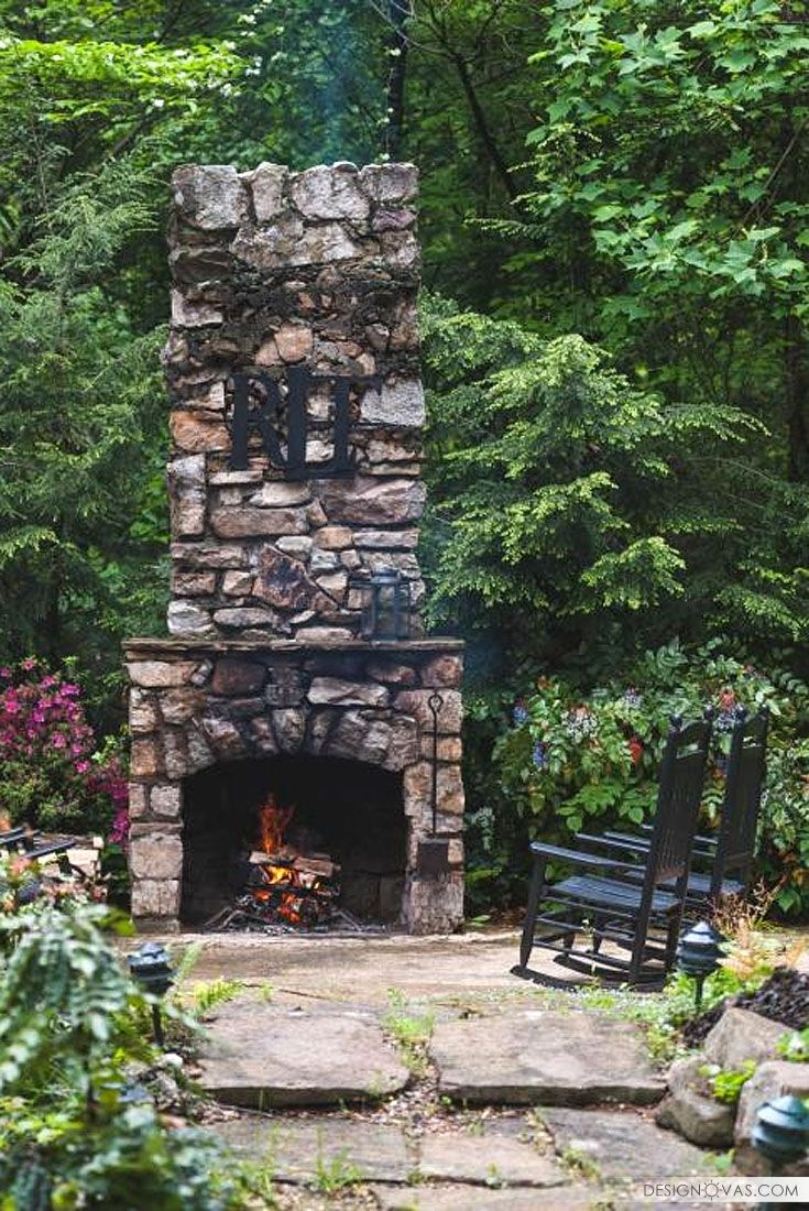 50 awesome outdoor fireplaces and fire pits | #backyard # ... on Amazing Outdoor Fireplaces  id=52495