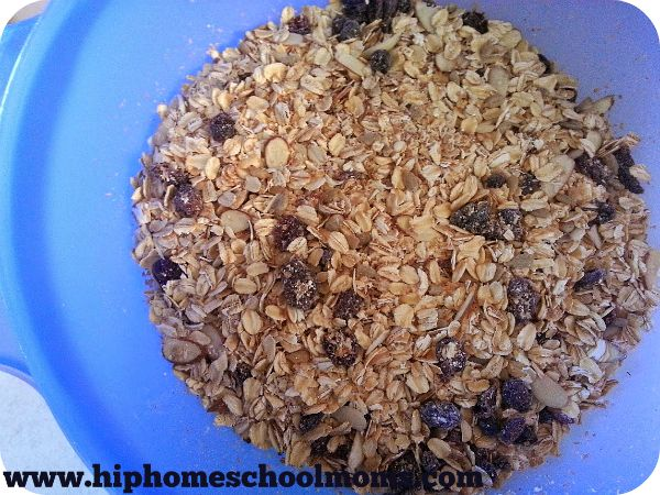 Make your own breakfast cereal with a very easy homemade Muesli recipe. While you may invest a bit at first, the ingredients last quite a while and can usually make several batches of cereal over a few months time.