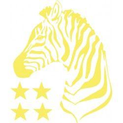 """Sticker """"Zèbre"""", nanelle, jaune, yellow, fluo"""