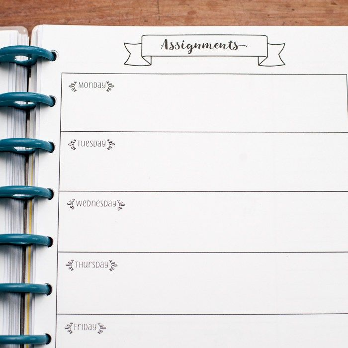 Should I use a planner for homework assignments?