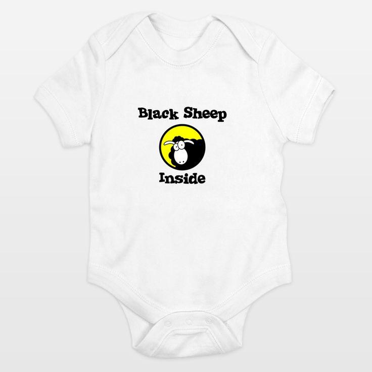 Fun Indie Art from BoomBoomPrints.com! https://www.boomboomprints.com/Product/Warp9/Black_Sheep_Inside/Onesies/0-3M_Cloud_White/