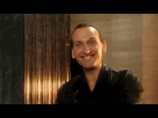 Christopher Eccleston as the ninth doctor (gif).