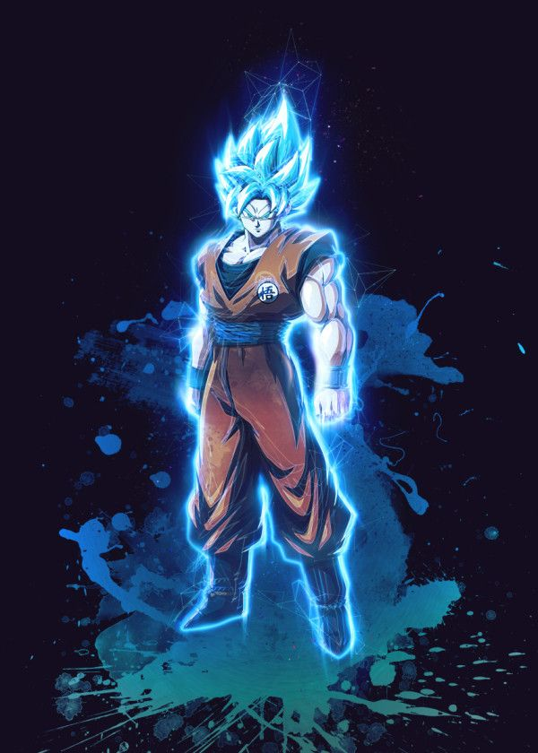 Goku Saiyan God Dragonball Z Renegade Poster By Gab Fernando Displate Dragon Ball Artwork Anime Dragon Ball Super Dragon Ball Art