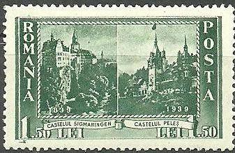Sello: Sigmaringen Castle & Peles Castle (Rumanía) (Karl I) Mi:RO 572,Yt:RO 555